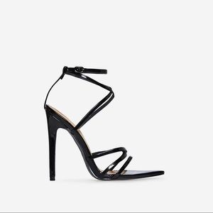 Pointed toe sandal heels